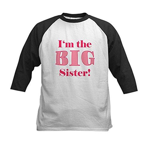 CafePress - Big Sister Kids Baseball Jersey - Kids Cotton Ba