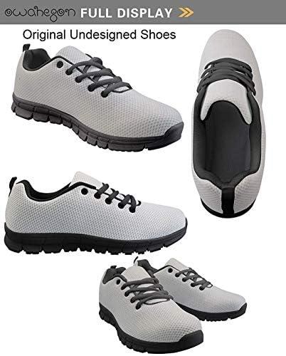 Owaheson Lace-up Sneaker Training Shoe Mens Womens Axe Freemason Medal