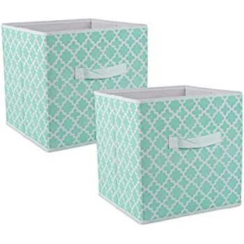 Amazon Com Bin Storage Teal Aqua Pack Of 4 Fabric Full
