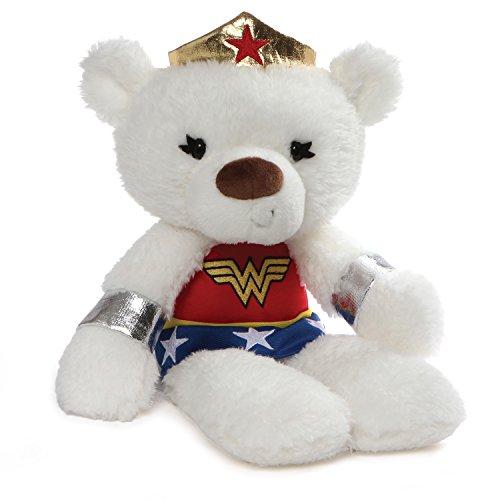GUND DC Comics Universe Fuzzy Bear Wonder Woman Plush, 14