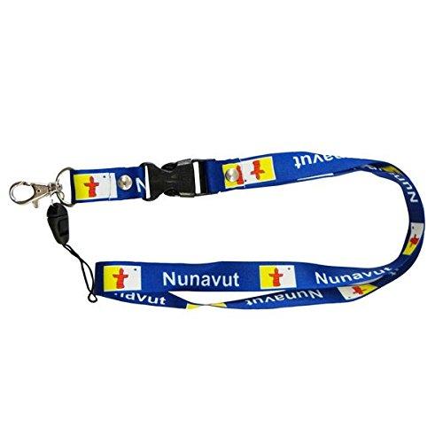 Amazon.com: NUNAVUT Canada Territory Flag Lanyard Keychain ...
