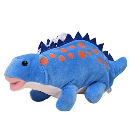 Good Bag Kid's Dinosaur Shape Plush Toy Cute Pencil Pen Case Pencil Holder Pencil Box for Kids School Children Students (Blue)