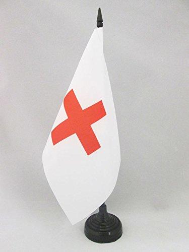 AZ FLAG Bandiera da Tavolo Croce Rossa 21x14cm Piccola BANDIERINA UMANITARIA 14 x 21 cm