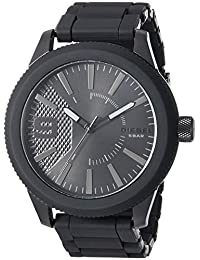 Diesel DZ1873 Reloj para Hombre, Extensible, Acero Negro, Caratula Negro, Análogo