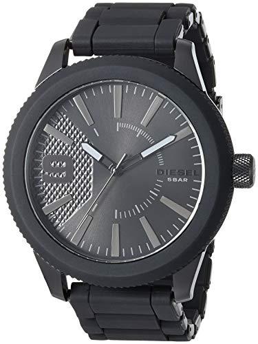 (Diesel Men's Rasp NSBB Analog-Quartz Watch with Stainless-Steel-Plated Strap, Black, 24 (Model: DZ1873)