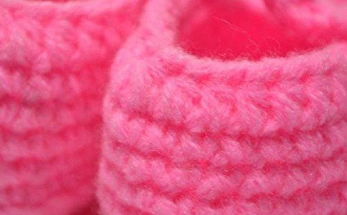 Kimberleystore nouveau-né Crochet Knit Chaussettes Sandales pour enfant Shoes-watermelon Rouge