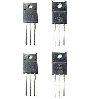 2 Set de 2sa1837 2SC4793 Original amplificador de potencia transistor