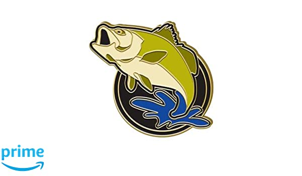 Amazon com : Crown Awards Bass Fish Lapel Pin - Fishing