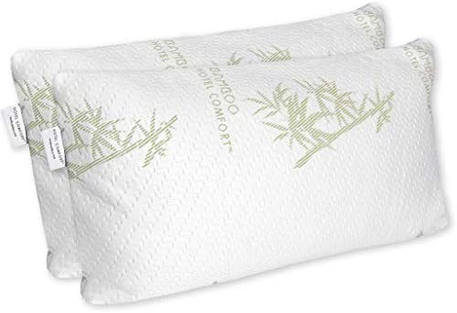 King Size Soft Hotel Bamboo Memory Foam Pillow Improved Version Hypoallergenic