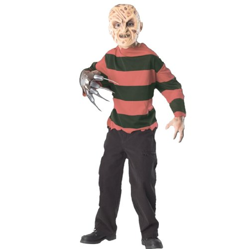 Nightmare on Elm Street Child's Freddy Costume with Mask and Shirt, (Freddy Krueger Costumes Girl)