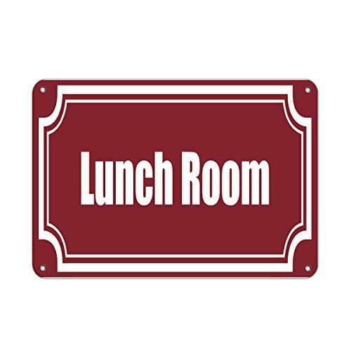 (Anwei Signs Wall DecorLunch Room Style 2 Business Sign Lunch Room and Break Room Tin Metal Sign 8 X 12 Inches Wall Art)