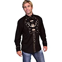 Scully Men's New Western Cowboy Guitar Yoke Shirt