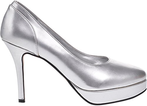 P Ladies Patent Shoes Lexus Heel U SILVER High Platform rqarw0