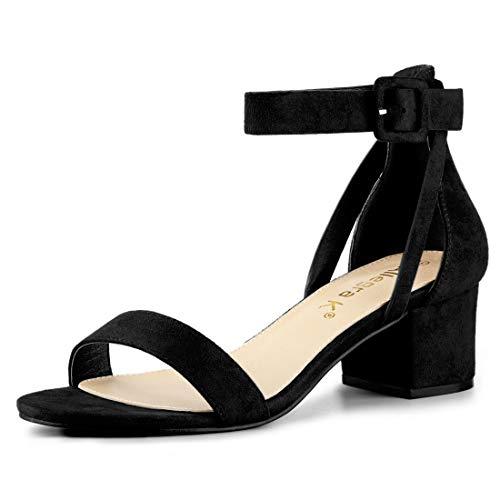 00ec006f583 Allegra K Women s Ankle Strap Block Low Heel Sandals