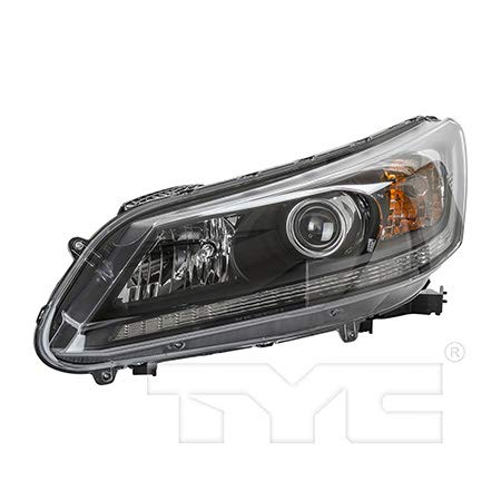 Fits 2013-2015 Honda Accord Headlight Driver Side NSF Certified Bulbs Included HO2502151 - Replaces 33150-T2A-A01 ;EX EX-L LX SPORT; 2.4L; for Sedan; Halogen