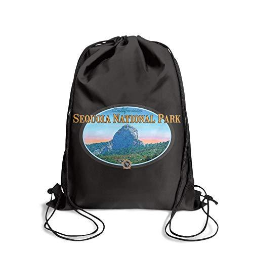 Sequoia National Park Unisex Drawstring Shoulders Cool Waterproof Hiking Sports Backpack