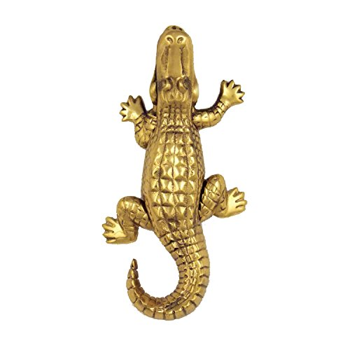 Alligator Door Knocker - Brass (Premium Size) (Door Surface Mount Knocker)