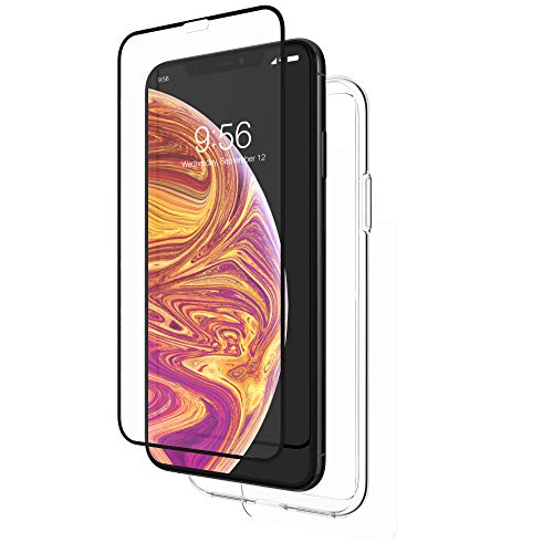 ZAGG InvisibleShield Glass+ 360 - Front + Back Screen Protection with Side Bumpers Made for Apple iPhone XS Max - Clear with Black Borders as Lining by ZAGG (Image #3)