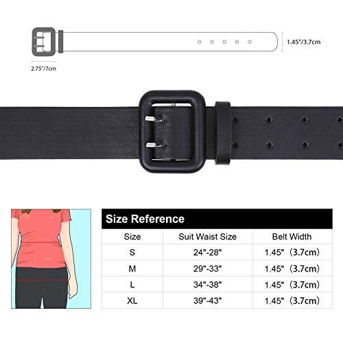 WERFORU Women Wide PU Leather Belt -Ladies Thick High Waist Belt for Dress(Suit for waist size 29\