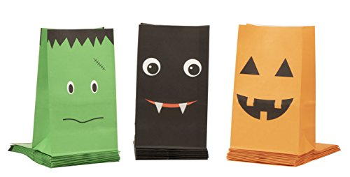 Party Treat Bags - 36-Pack Gift Bags, Halloween