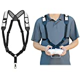 USA Gear Drone Remote Controller Harness Strap Lanyard with Adjustable Neoprene Design and Metal Clip, Compatible with DJI, Syma, Parrot, YUNEEC and More RC Helicopter, Quadcopter Controllers