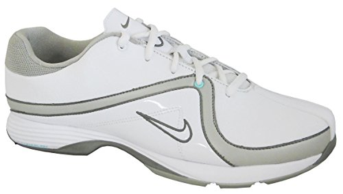 Nike Golf Women's Lunar Brassie Golf Shoe,White/Metallic Pewter,8.5 W US