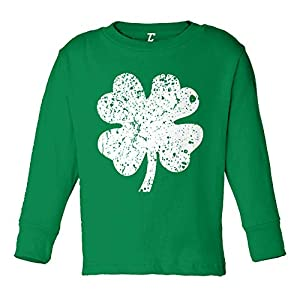 Distressed Four Leaf Clover – Luck Irish Infant/Toddler Cotton Jersey T-Shirt