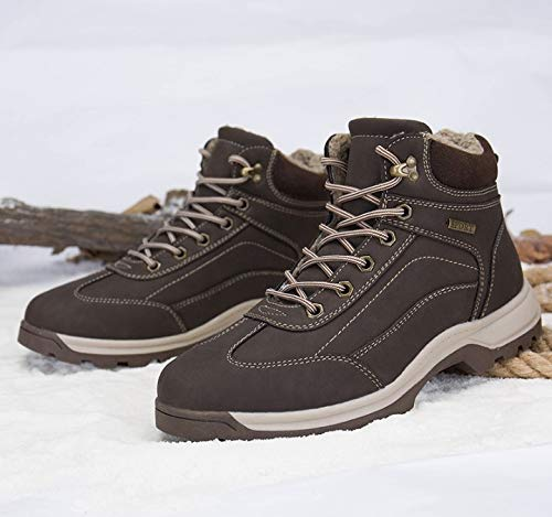 FMWLST stivali stivali stivali Stivali Invernali da Neve Caldi Stivali da Uomo in PU con Lacci in PU Crosta con Lacci da Uomo, 37 e453ac