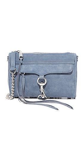 Rebecca Minkoff Women's Mini Mac Cross Body Bag, Dusty Blue, One Size