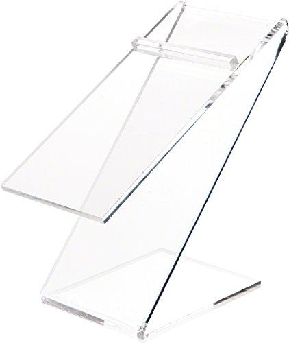 Plymor Clear Acrylic Elevated Heel Z Shoe Display Riser, 3