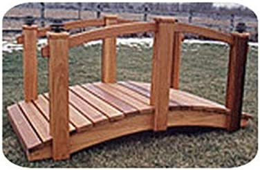 Woodworking Project Paper Plan to Build 8' Arched Lawn Bridge