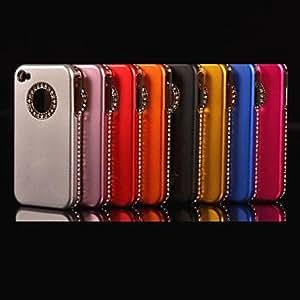 JJECircular Frame Diamond Hard Case for iPhone 4/4S (Assorted Colors) , Blue
