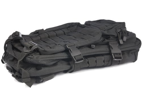 Mil-Tec MOLLE Tactical Assault Backpack, 20 Litre, Black