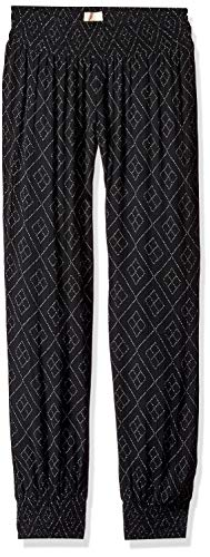 - O'Neill Women's Night Flare Woven Pant with Smocked Waistband, Black S