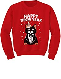 TeeStars - Happy Meow Year - Happy Year Cute Cat Toddler/Kids Sweatshirts