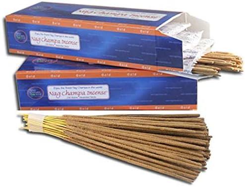 Amazon Com Nag Champa Gold Incense Bulk 500 Sticks Pack 2 X 250 Stick Boxes Home Kitchen