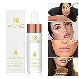 AIKIMUSE Makeup Oil 24k Rose Gold Elixir Skin Beauty Oil Essential Oil Before Primer Foundation Moisturizing Face Oil Make Up Base For Face