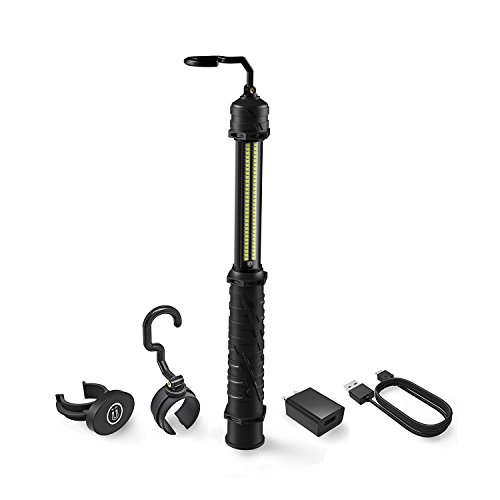 Neiko 40464A Cordless LED Work Light, 350 Lumens, 5 Hours Run Time, 4,000 mAh Rechargeable Li-ion Battery, Multi- Purpose