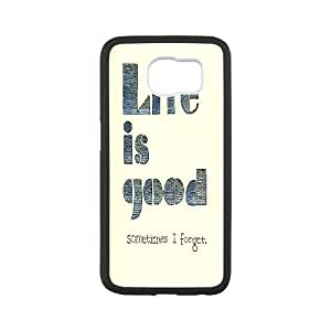 Dacase Samsung Galaxy S6 Case, Life is good Custom Samsung Galaxy S6 Cover