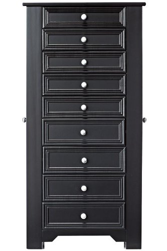 Amazoncom Oxford Lift Top Jewelry Armoire with Eight Drawers and