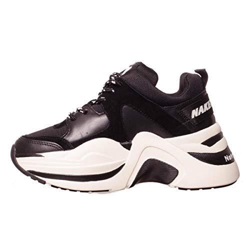 Taglia Scarpe Nero Wolfe White Black Naked Basse 40 Platform Track off Combo Donna Con PaxxUqO5
