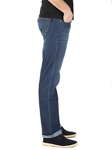 para Denim Pantalones Ray Azul Hombre Blue Capitán Used w1xtF6qwH