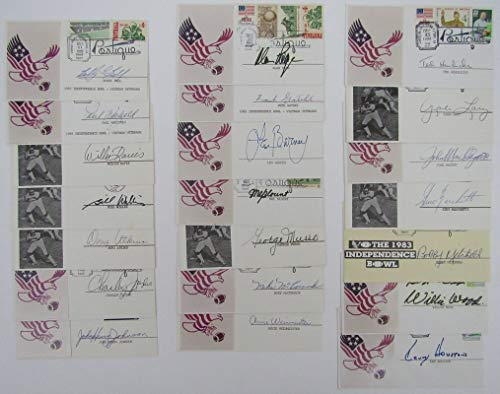 - Lot of 21 First Day Cover Envelopes (FDC) signed by NFL HOF Players 143795
