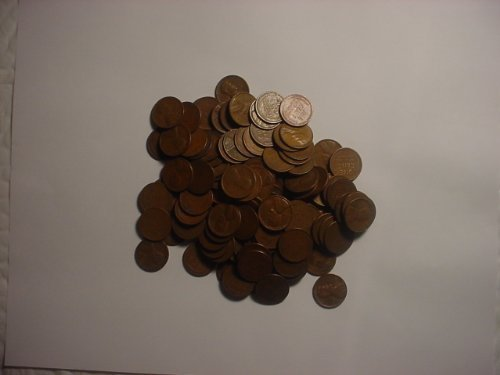 500 Mixed Date Wheat Cents by US Mint