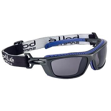 Bollé BAXPSF Lunettes de Protection Baxter fumée, Noir Bleu, Taille Unique c11f28308a36