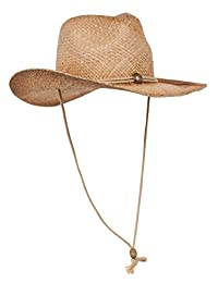Outback Tea Stained Raffia Straw Hat-Natural Off Tea Stains Plain W37S10E