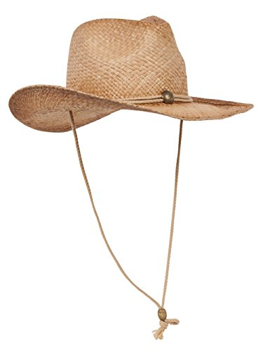 MG Tea Stain Raffia Straw Cowboy Hat -