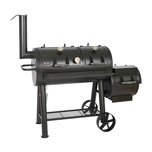 Mayer Barbecue RAUCHA 20 Zoll Longhorn Smoker MS-600 Master Smoker-Grill Grillwagen XXL, 4950 cm² Grillfläche, Massiv…