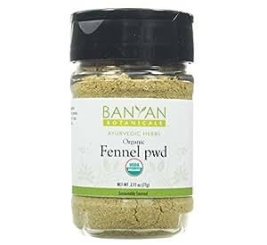 Banyan Botanicals Fennel Seed Powder - USDA Certified Organic, Spice Jar - Foeniculum vulgare - Spice & Herbal Supplement for Digestive Comfort …