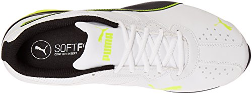 Scarpe da corsa da uomo Tazon 6 FM Puma bianco / Puma nero / giallo sicurezza - 10 D (M) US